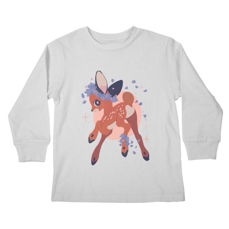 Heartbutt Deer Kids Longsleeve T-Shirt by StrangelyKatie's Store