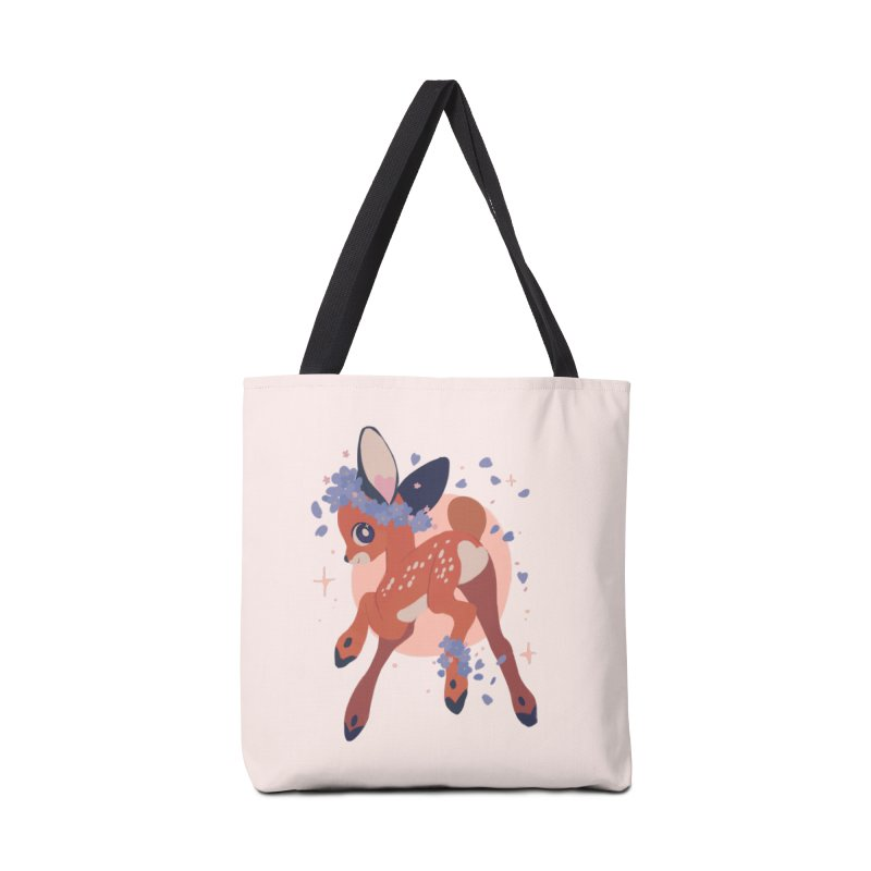 Heartbutt Deer Accessories Tote Bag Bag by StrangelyKatie's Store