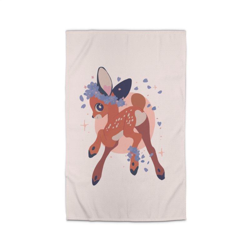 Heartbutt Deer Home Rug by StrangelyKatie's Store
