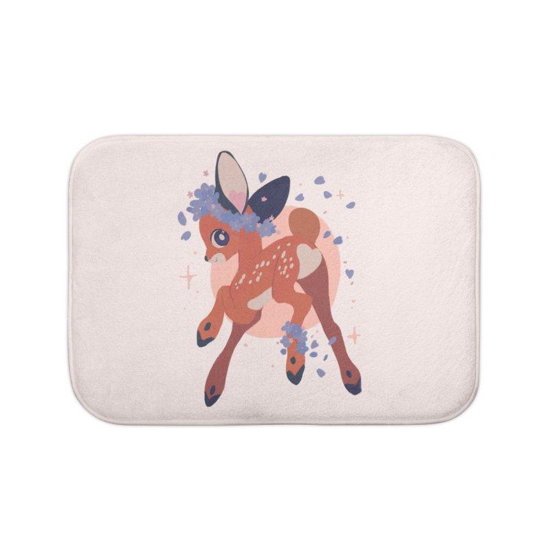Heartbutt Deer Home Bath Mat by StrangelyKatie's Store