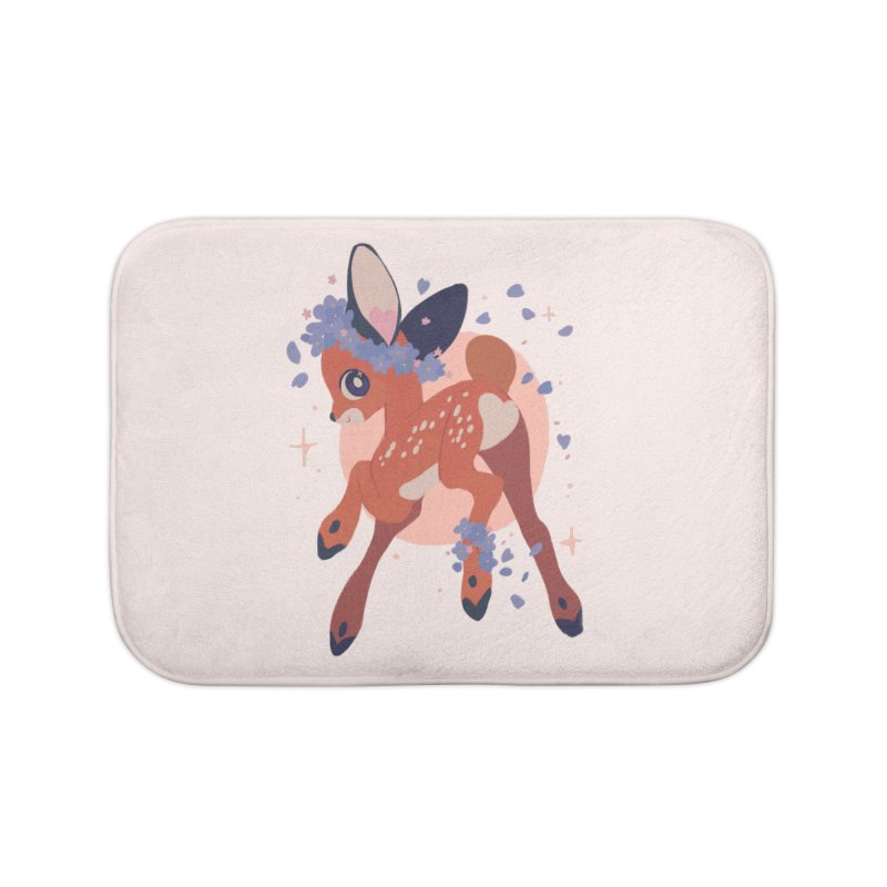 Heartbutt Deer Home Bath Mat by StrangelyKatie's Store