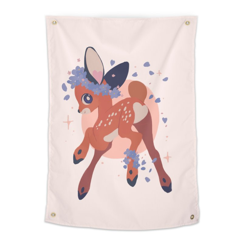 Heartbutt Deer Home Tapestry by StrangelyKatie's Store