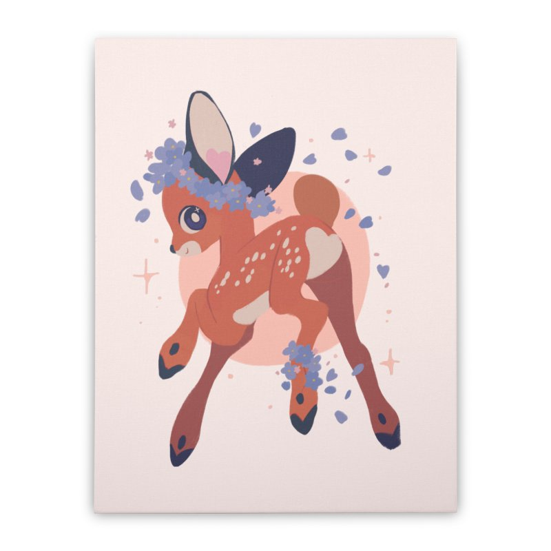 Heartbutt Deer Home Stretched Canvas by StrangelyKatie's Store
