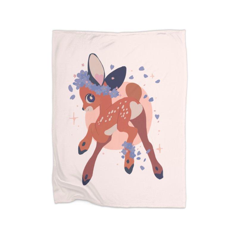 Heartbutt Deer Home Blanket by StrangelyKatie's Store