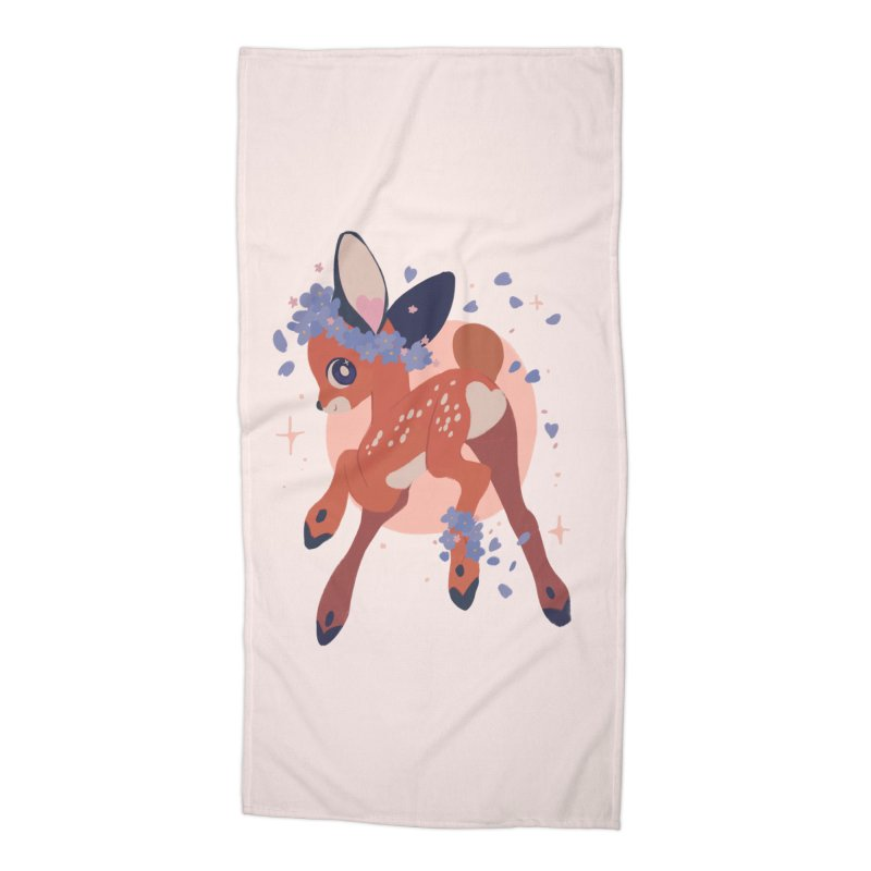 Heartbutt Deer Accessories Beach Towel by StrangelyKatie's Store