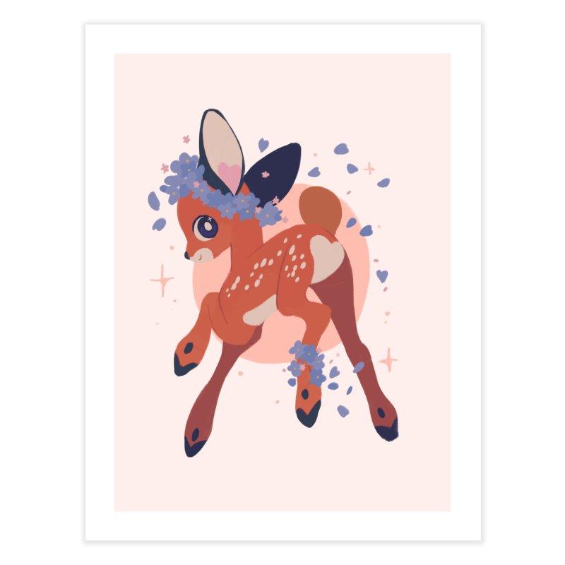 Heartbutt Deer Home Fine Art Print by StrangelyKatie's Store
