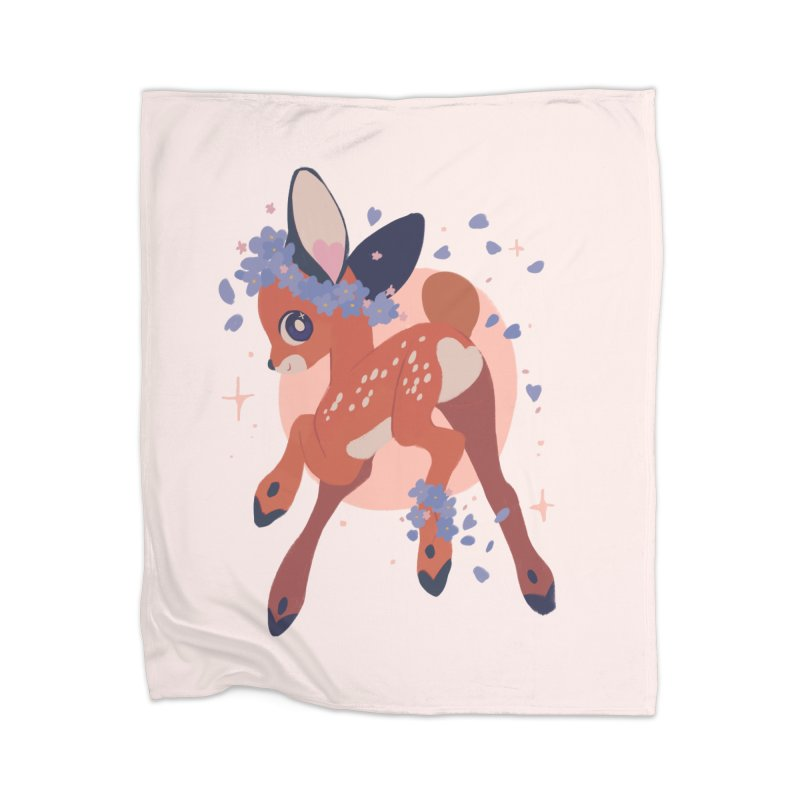 Heartbutt Deer Home Blanket by StrangelyKatie's Store