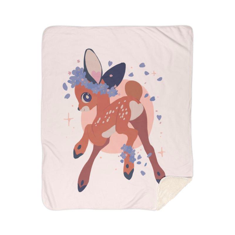 Heartbutt Deer Home Sherpa Blanket Blanket by StrangelyKatie's Store
