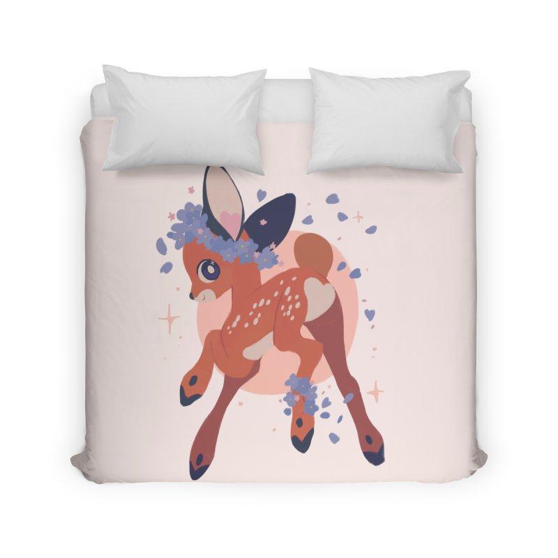 Heartbutt Deer Home Duvet by StrangelyKatie's Store