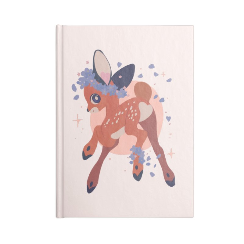 Heartbutt Deer Accessories Lined Journal Notebook by StrangelyKatie's Store