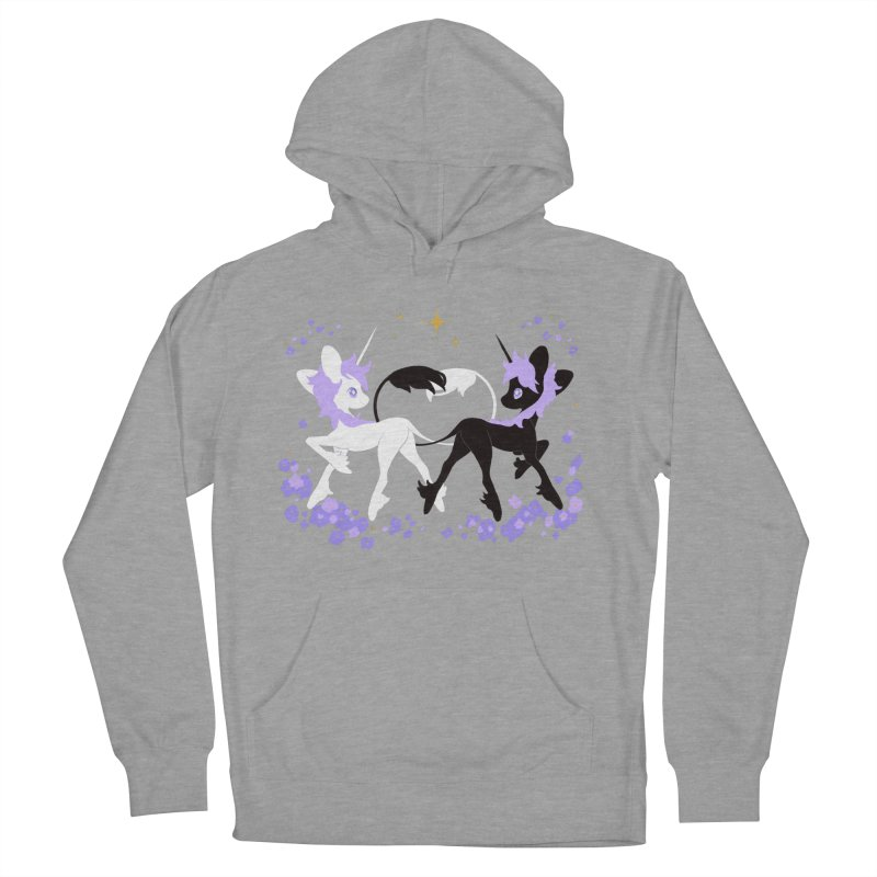 Unicorn Pair Women's French Terry Pullover Hoody by StrangelyKatie's Store
