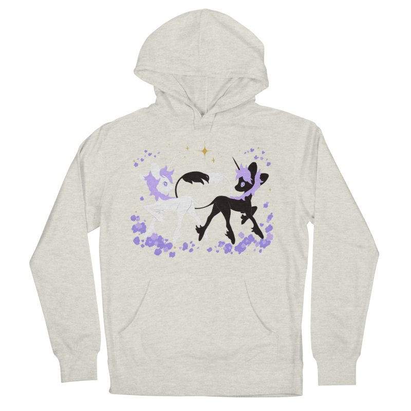 Unicorn Pair Men's French Terry Pullover Hoody by StrangelyKatie's Store