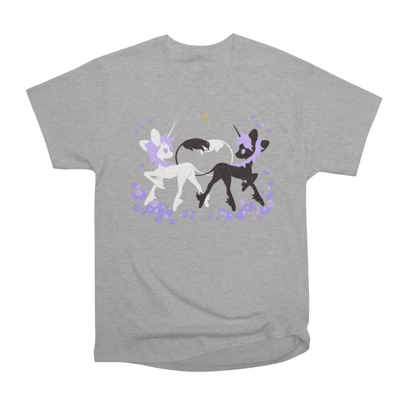 Unicorn Pair Men's Heavyweight T-Shirt by StrangelyKatie's Store