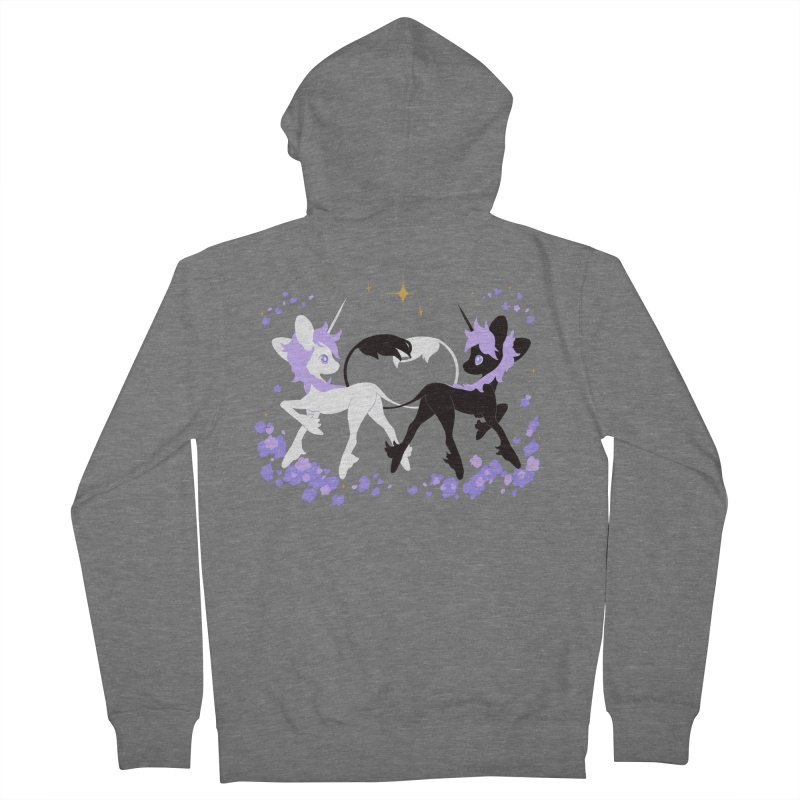 Unicorn Pair Women's Zip-Up Hoody by StrangelyKatie's Store