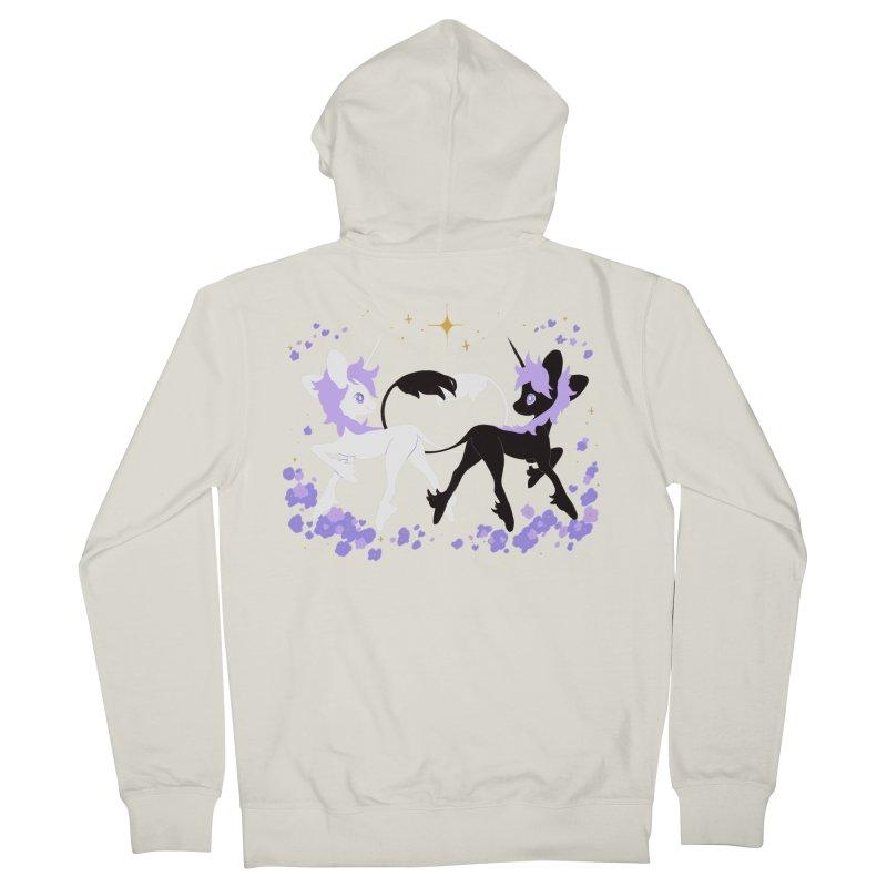 Unicorn Pair Women's French Terry Zip-Up Hoody by StrangelyKatie's Store