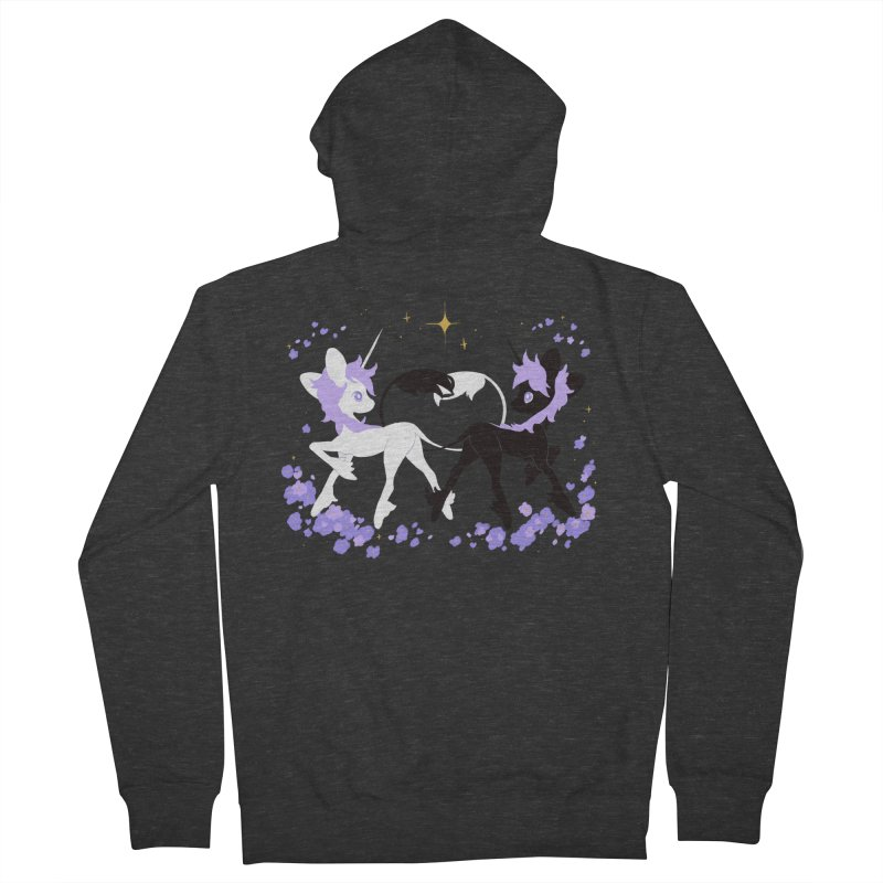 Unicorn Pair Men's Zip-Up Hoody by StrangelyKatie's Store