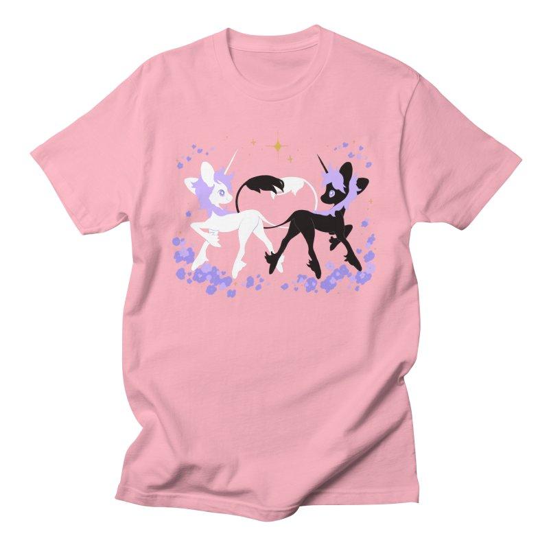 Unicorn Pair Men's Regular T-Shirt by StrangelyKatie's Store
