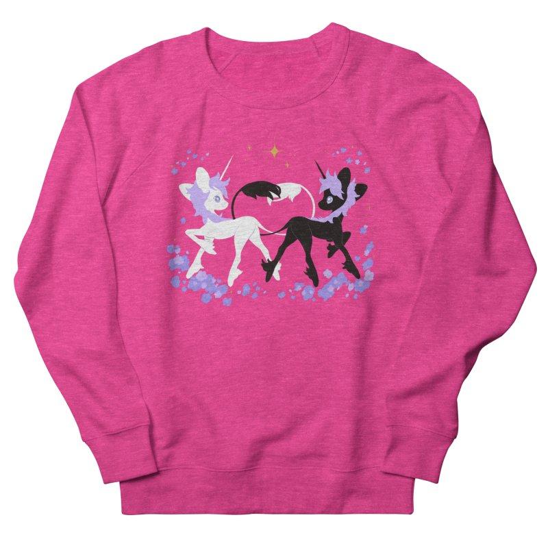 Unicorn Pair Women's French Terry Sweatshirt by StrangelyKatie's Store