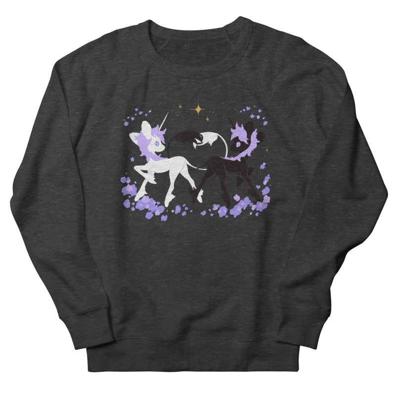 Unicorn Pair Men's French Terry Sweatshirt by StrangelyKatie's Store