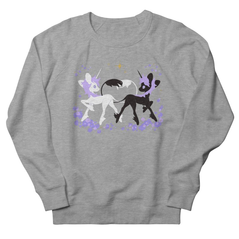 Unicorn Pair Men's French Terry Sweatshirt by StrangelyKatie's Store