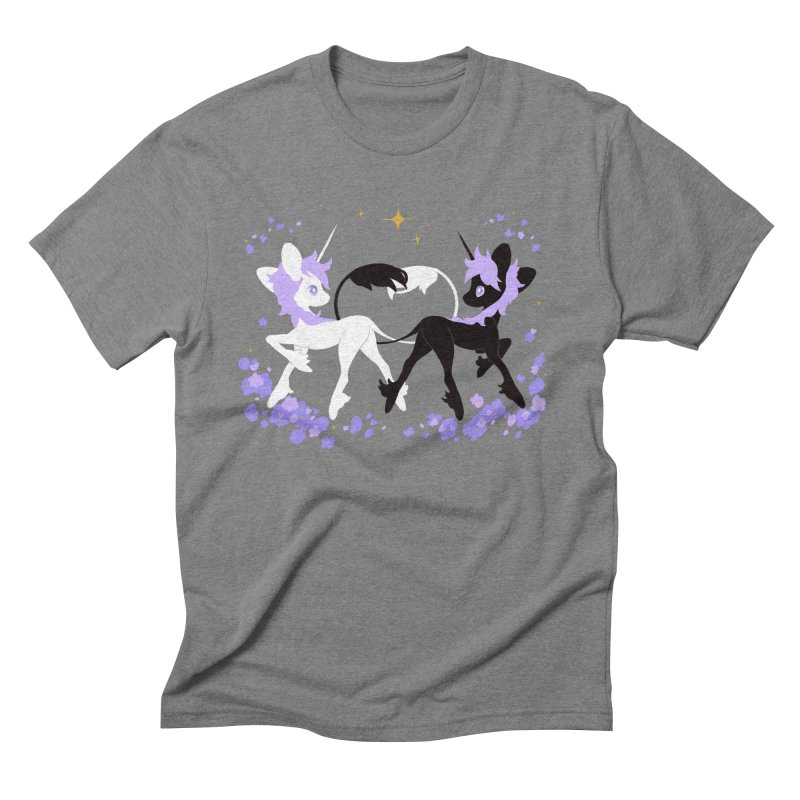 Unicorn Pair Men's Triblend T-Shirt by StrangelyKatie's Store