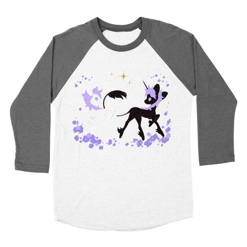 Unicorn Pair Men's Baseball Triblend Longsleeve T-Shirt by StrangelyKatie's Store