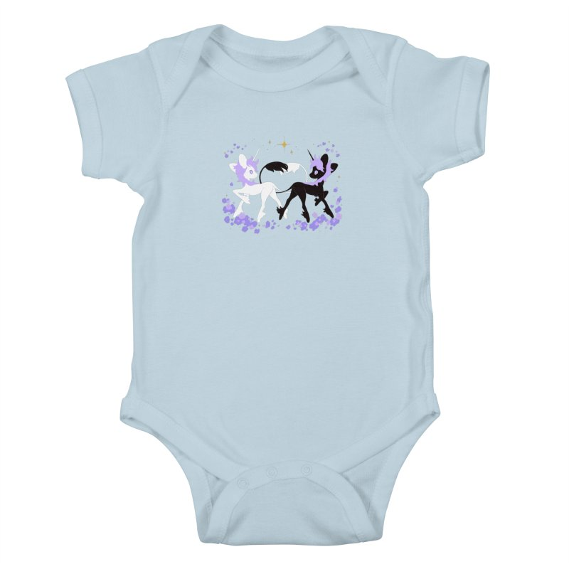 Unicorn Pair Kids Baby Bodysuit by StrangelyKatie's Store