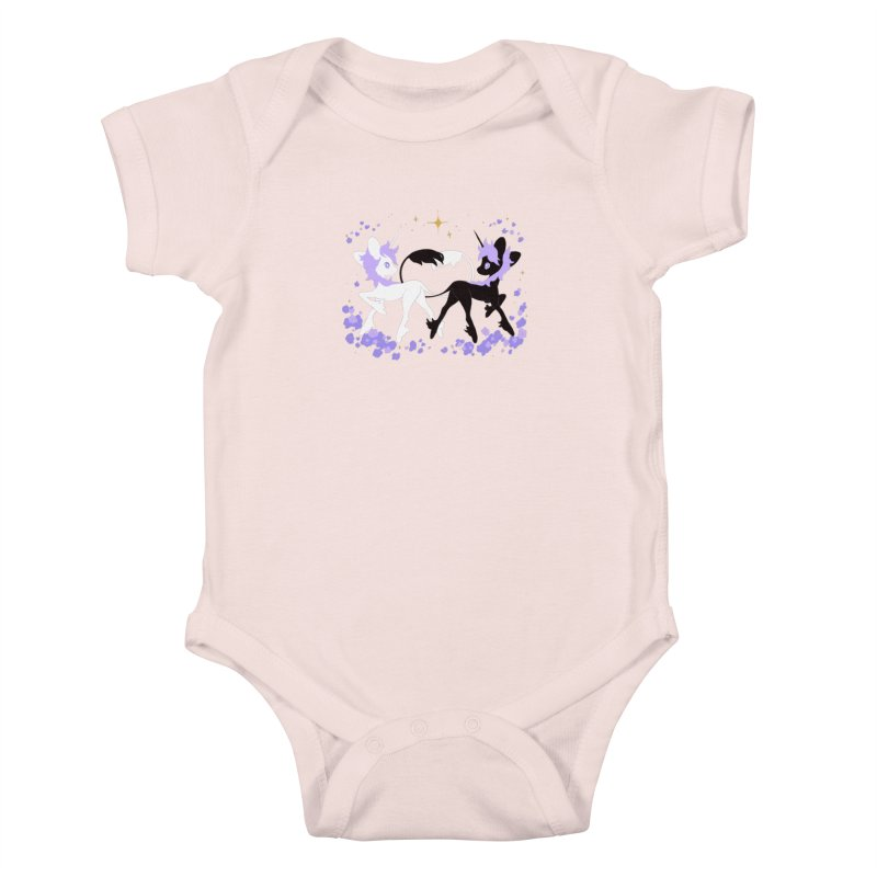 Unicorn Pair Kids Baby Bodysuit by StrangelyKatie's Store