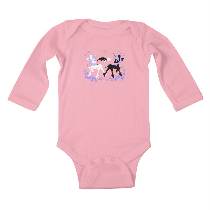 Unicorn Pair Kids Baby Longsleeve Bodysuit by StrangelyKatie's Store