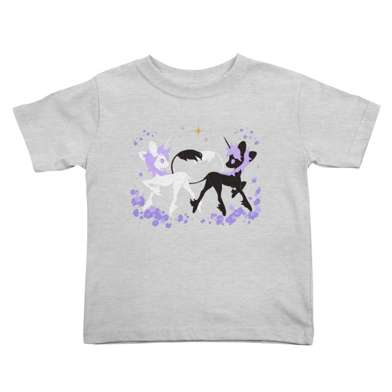 Unicorn Pair Kids Toddler T-Shirt by StrangelyKatie's Store