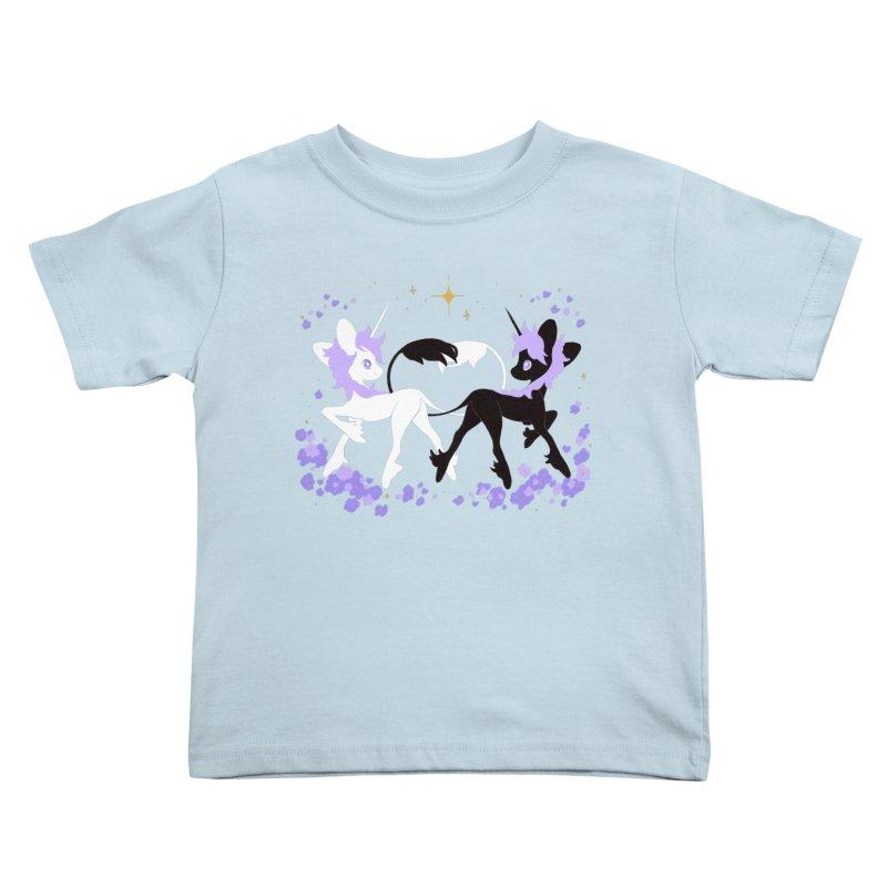 Unicorn Pair Kids Toddler T-Shirt by StrangelyKatie's Store