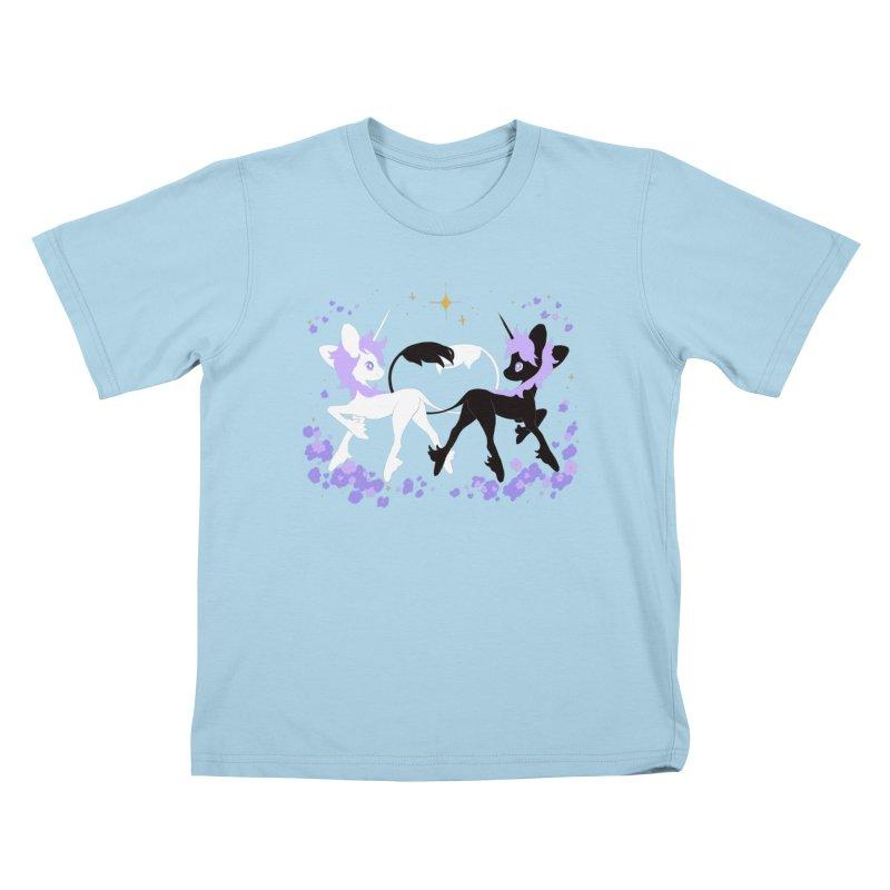 Unicorn Pair Kids T-Shirt by StrangelyKatie's Store