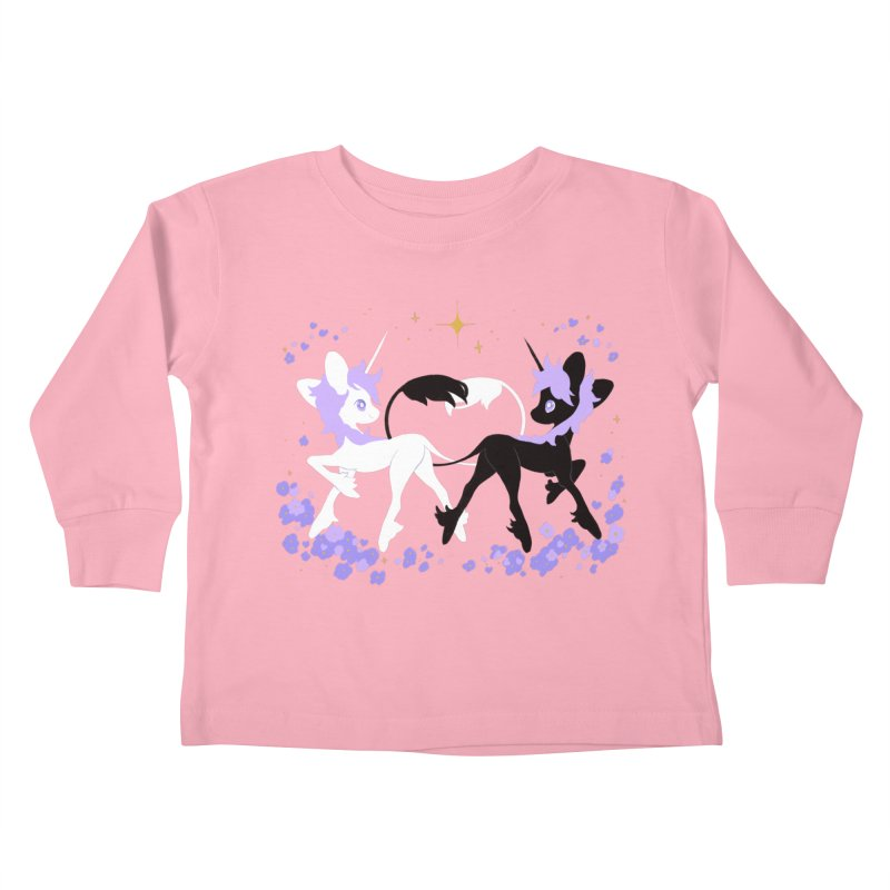 Unicorn Pair Kids Toddler Longsleeve T-Shirt by StrangelyKatie's Store