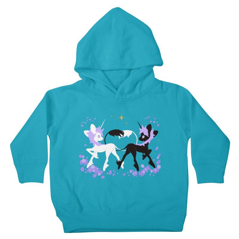 Unicorn Pair Kids Toddler Pullover Hoody by StrangelyKatie's Store