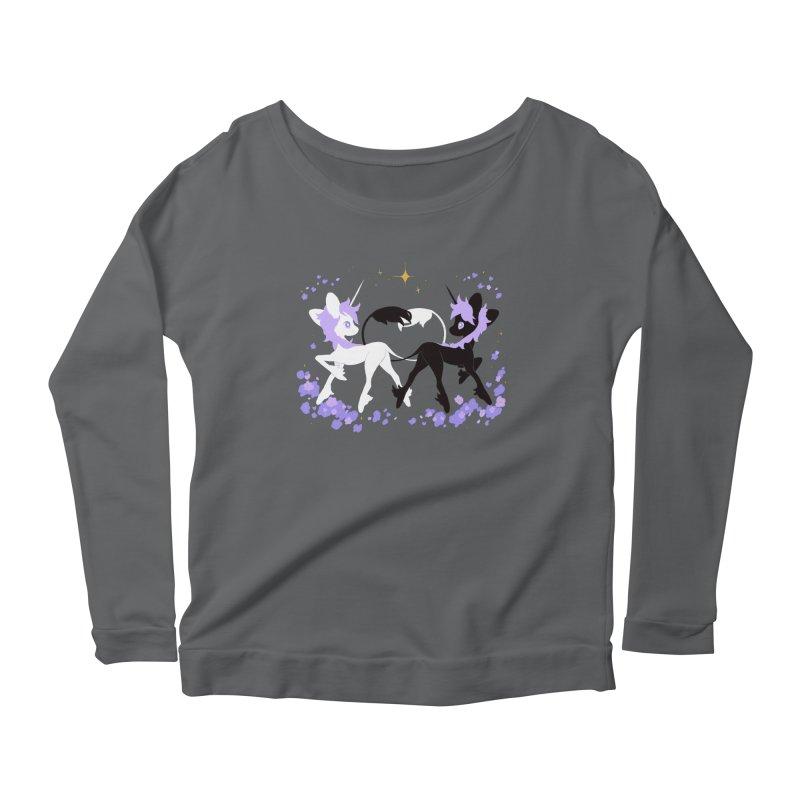 Unicorn Pair Women's Longsleeve Scoopneck  by StrangelyKatie's Store