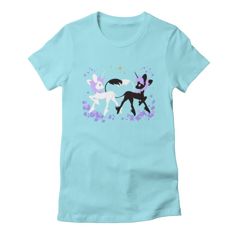 Unicorn Pair Women's Fitted T-Shirt by StrangelyKatie's Store
