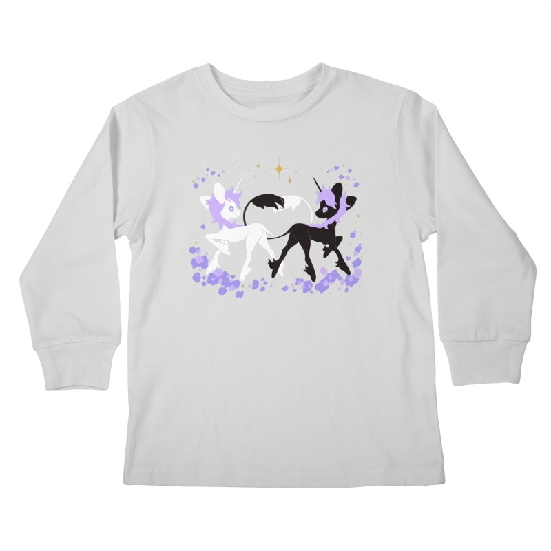 Unicorn Pair Kids Longsleeve T-Shirt by StrangelyKatie's Store