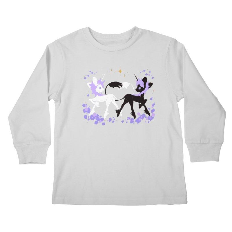 Unicorn Pair Kids Longsleeve T-Shirt by StrangelyKatie's Store
