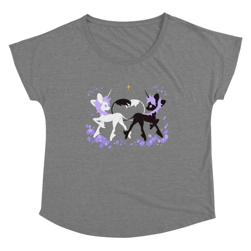 Unicorn Pair Women's Scoop Neck by StrangelyKatie's Store
