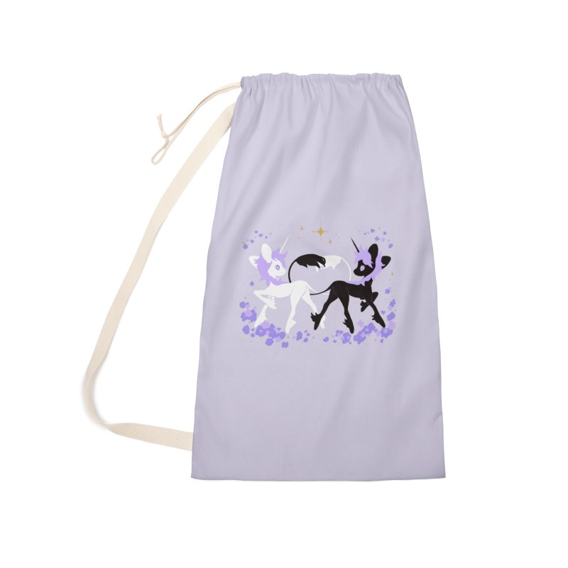 Unicorn Pair Accessories Laundry Bag Bag by StrangelyKatie's Store