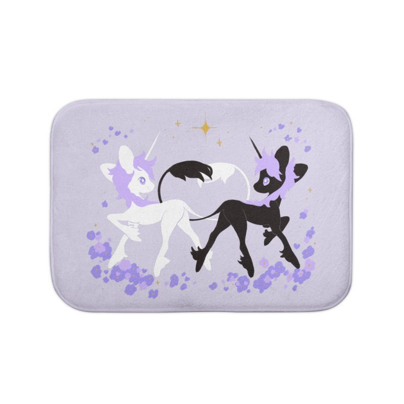 Unicorn Pair Home Bath Mat by StrangelyKatie's Store