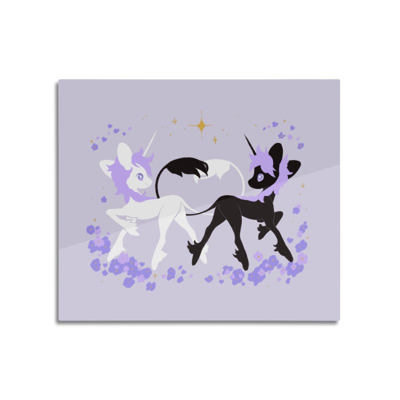 Unicorn Pair Home Mounted Aluminum Print by StrangelyKatie's Store