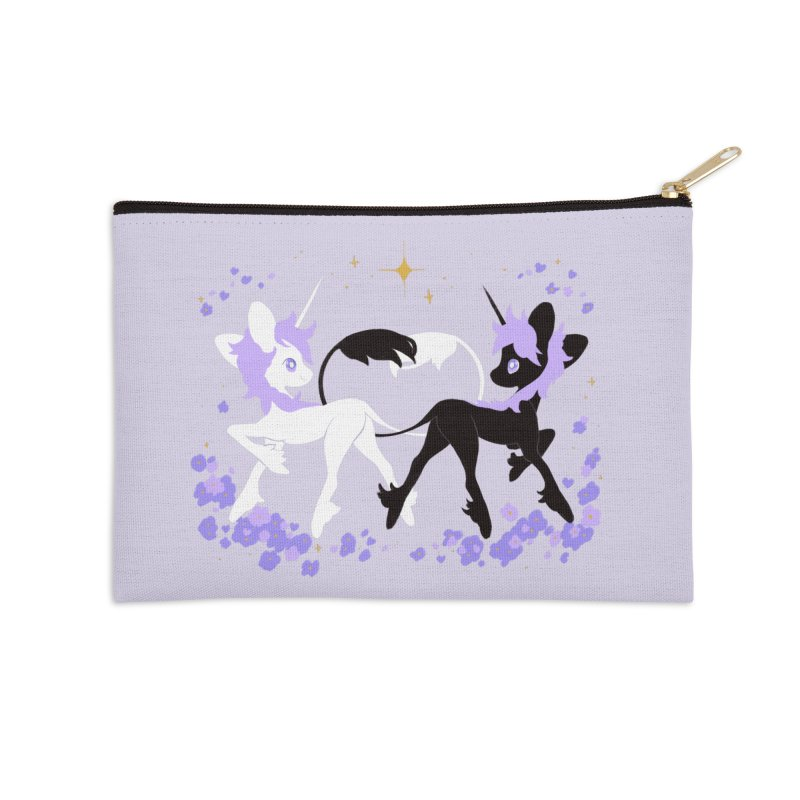Unicorn Pair Accessories Zip Pouch by StrangelyKatie's Store