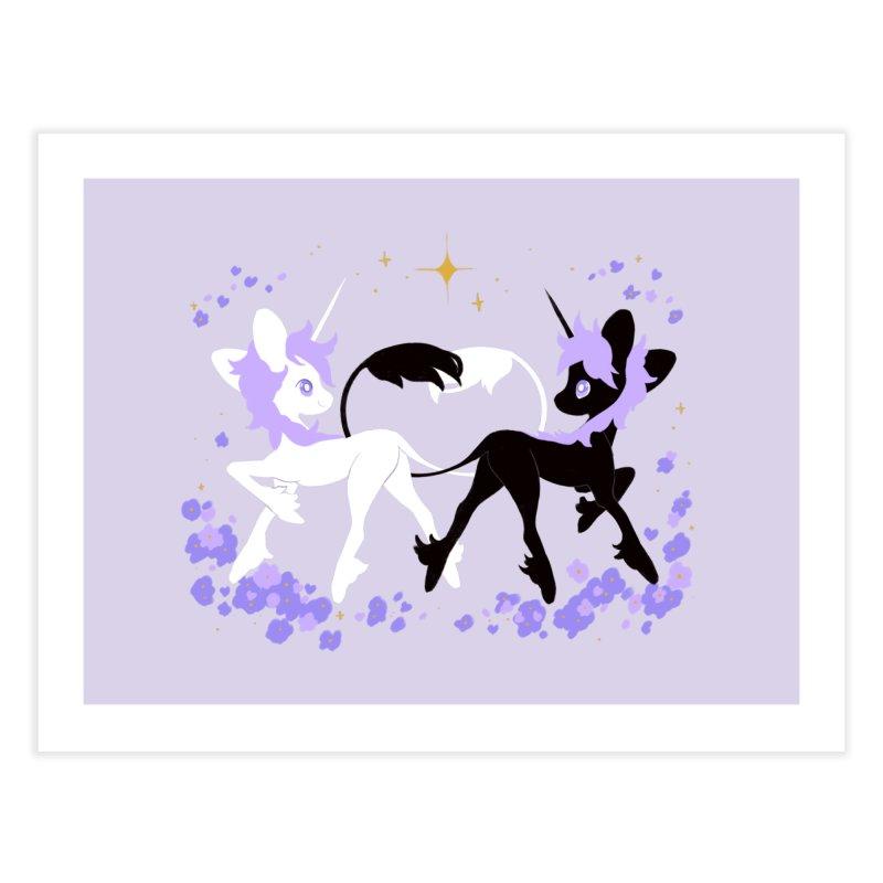 Unicorn Pair Home Fine Art Print by StrangelyKatie's Store