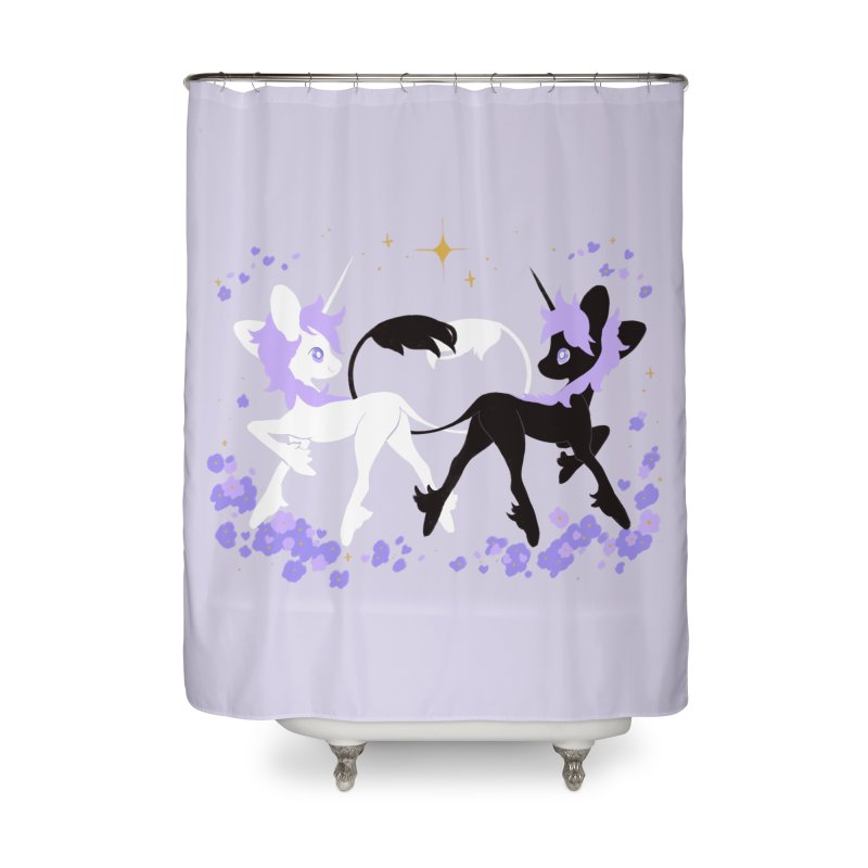 Unicorn Pair Home Shower Curtain by StrangelyKatie's Store