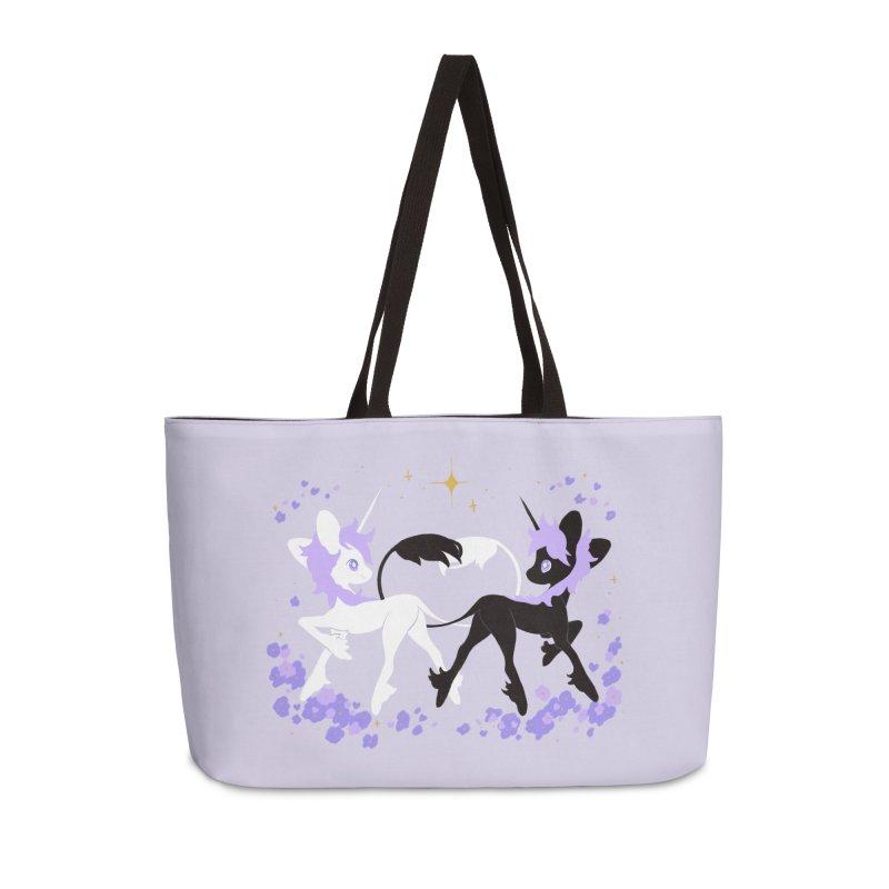 Unicorn Pair Accessories Weekender Bag Bag by StrangelyKatie's Store