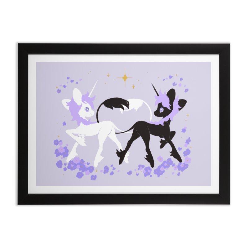 Unicorn Pair Home Framed Fine Art Print by StrangelyKatie's Store
