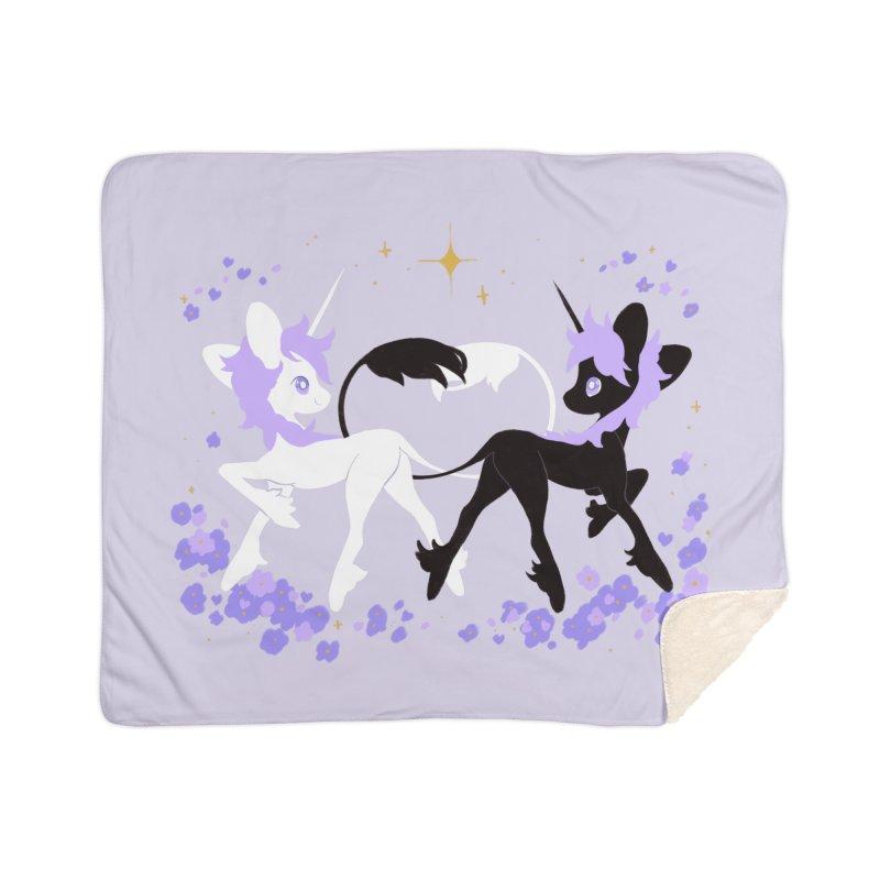 Unicorn Pair Home Sherpa Blanket Blanket by StrangelyKatie's Store