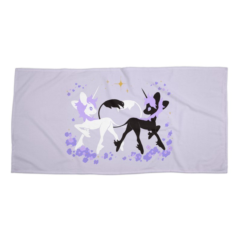 Unicorn Pair Accessories Beach Towel by StrangelyKatie's Store