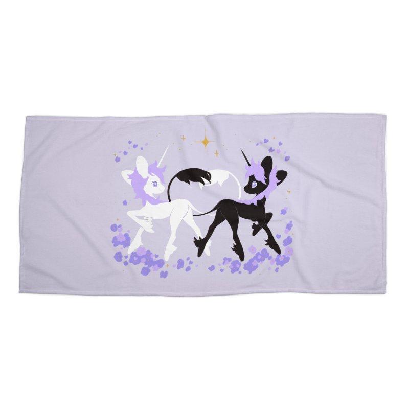 Unicorn Pair Accessories Beach Towel by StrangelyKatie's Store